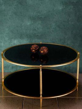 sunhome coffee table model W0082 1 268x358 - میز جلو مبلی گرد مشکی مدل W0082
