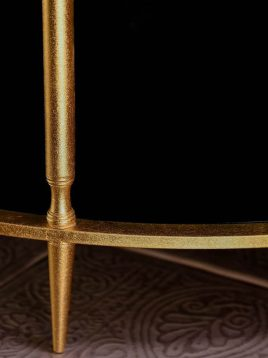 sunhome coffee table model W0082 2 268x358 - میز جلو مبلی گرد مشکی مدل W0082