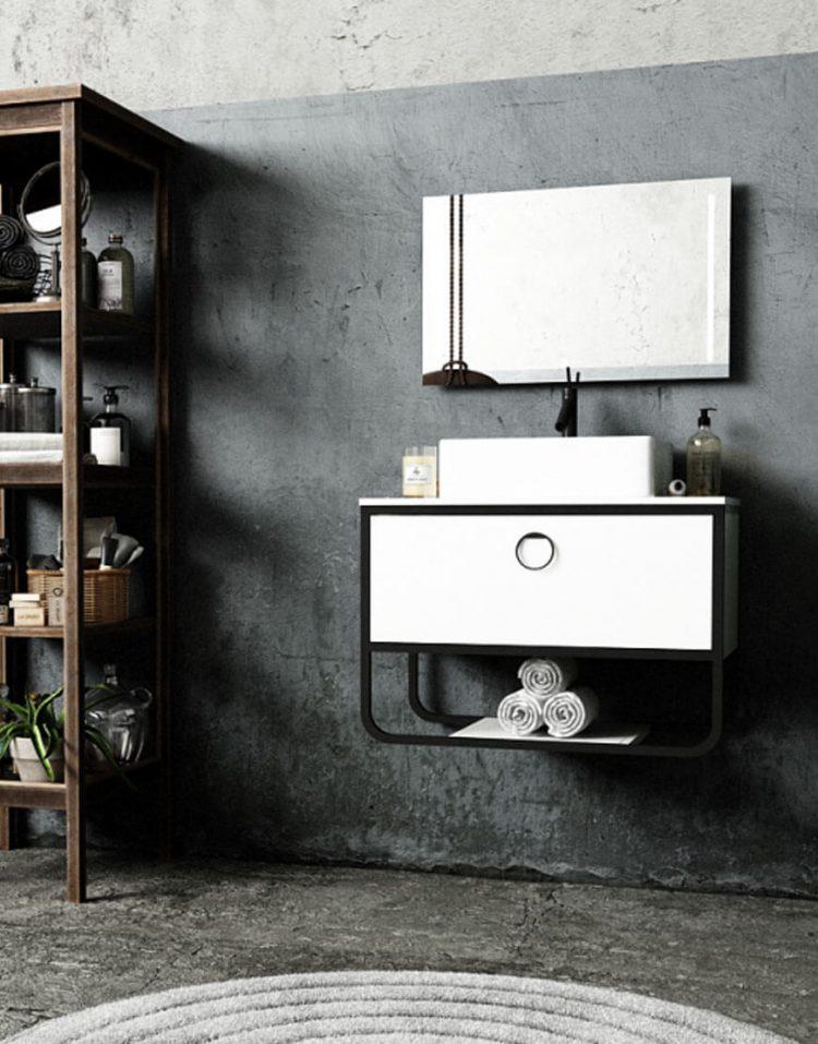 Verta Bathroom Vanities Armado1 750x957 - ست روشویی کابینت و آینه مدل آرمادو