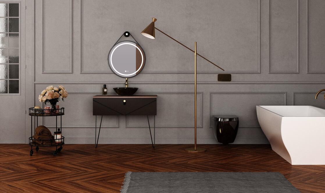 Verta Bathroom Vanities Valentino0 - ست روشویی کابینت ورتا و آینه مدل ولنتینو