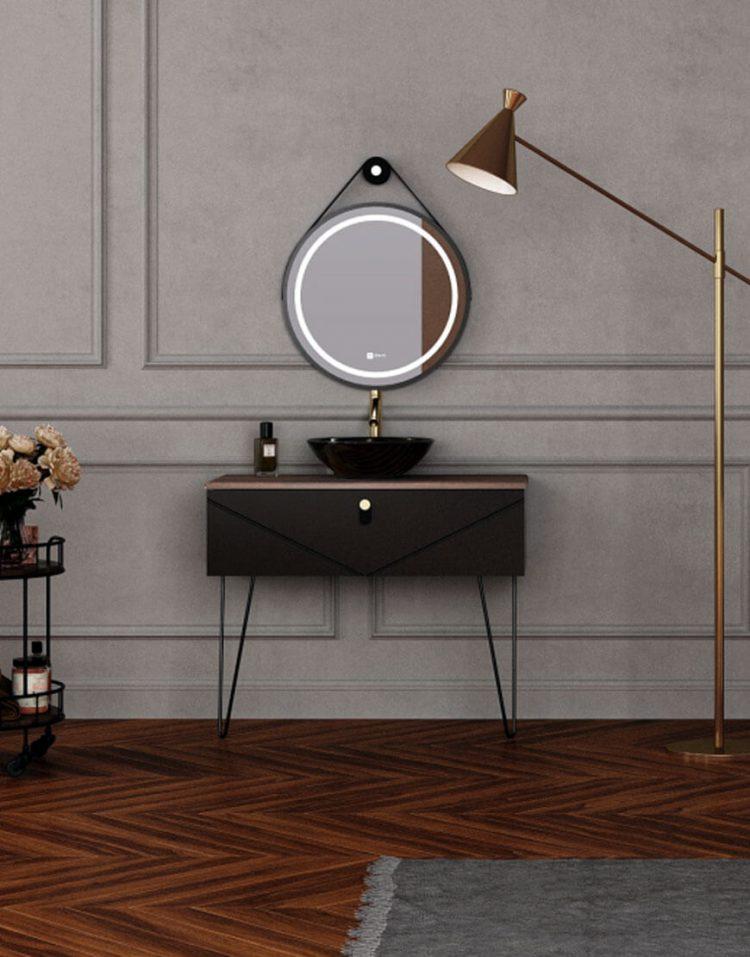 ست روشویی کابینت ورتا و آینه مدل ولنتینو