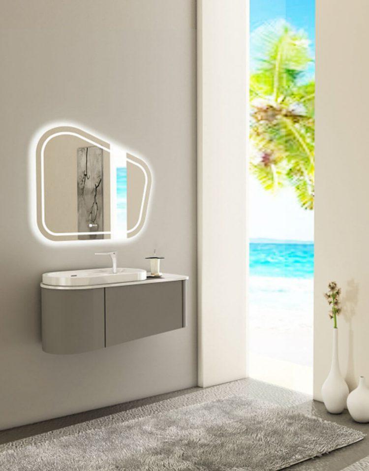 Verta Bathroom Vanities Zinnia 750x957 - ست روشویی کابینت و آینه مدل زینیا