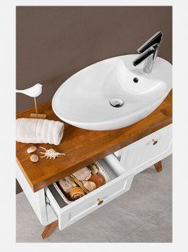 Lotus bathroom vanities SHARK model2 268x358 - ست روشویی کابینت چوبی لوتوس مدل SHARK