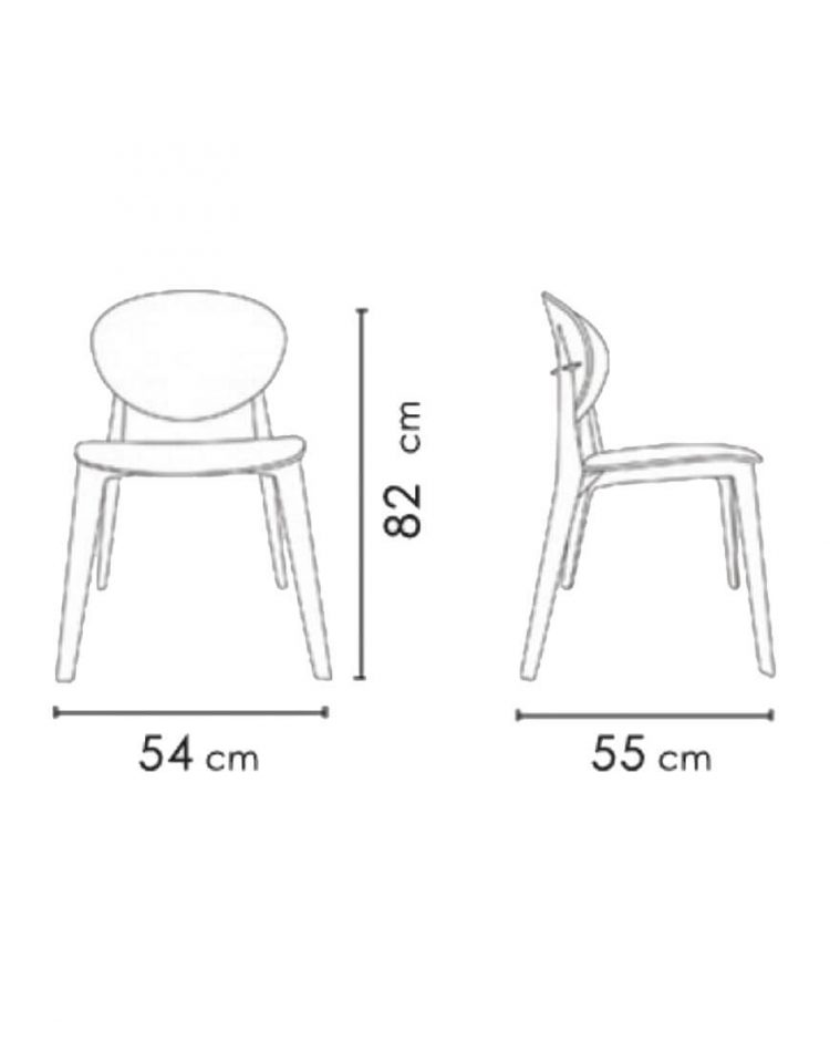 صندلی بدون دسته با پایه چوبی نظری مدل پوینت