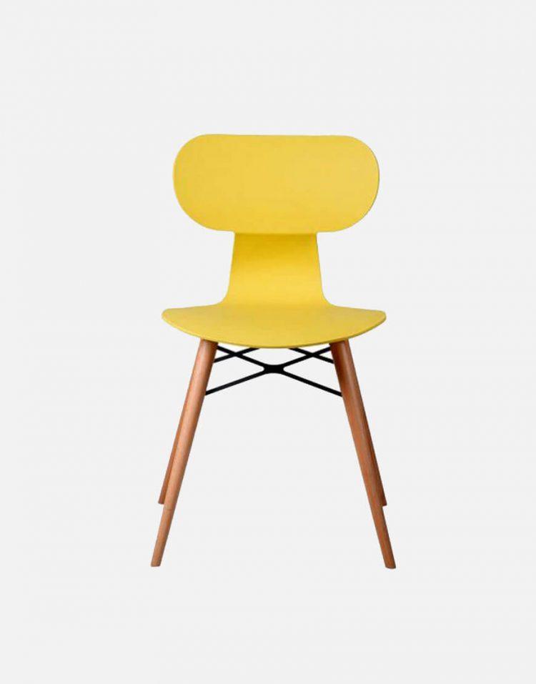 صندلی بدون دسته با پایه چوبی نظری مدل یوگو