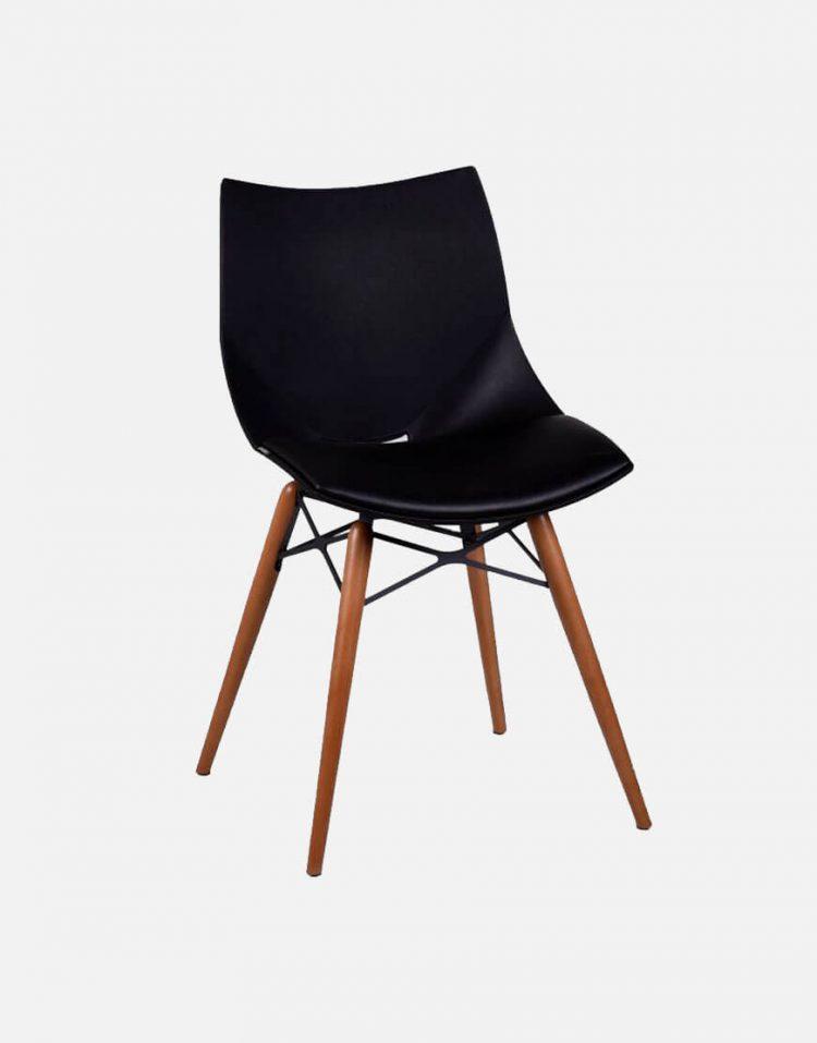 صندلی بدون دسته پایه چوبی صنایع نظری مدل شل