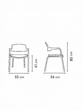صندلی دسته دار نظری مدل کلیک