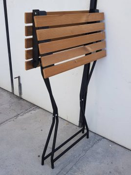 میز فلزی تاشو صفحه چوبی نهالسان