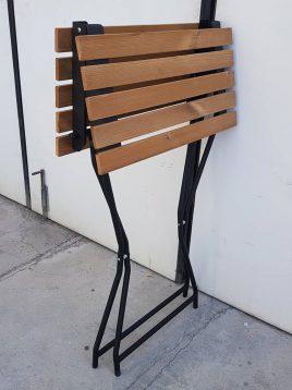 nahalsan Folding wood table 2 268x358 - میز فلزی تاشو صفحه چوبی نهالسان