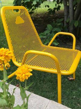 صندلی راحتی فلزی پانچی نهالسان مدل نسیم
