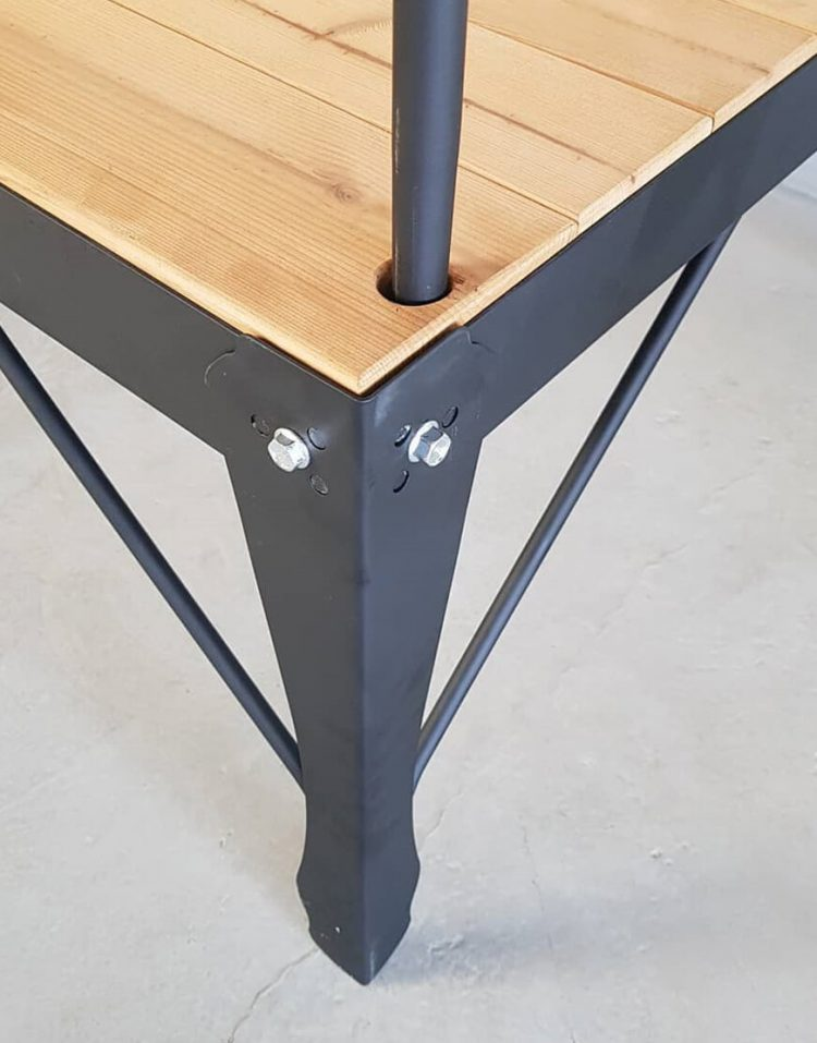 nahalsan Metal frame bench model tx 3 750x957 - تخت فلزی و چوبی مدل تی ایکس