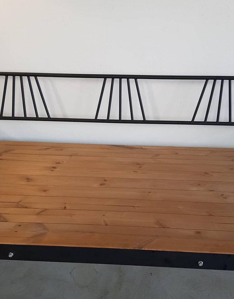 nahalsan Metal frame bench model tx 4 750x957 - تخت فلزی و چوبی مدل تی ایکس