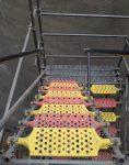 nahalsan Scaffolding stairs and metal shield 1 118x150 - پله داربستی فلزی نهالسان