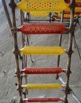 nahalsan Scaffolding stairs and metal shield 3 118x150 - پله داربستی فلزی نهالسان