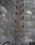 nahalsan Scaffolding stairs and metal shield 5 118x150 - پله داربستی فلزی نهالسان