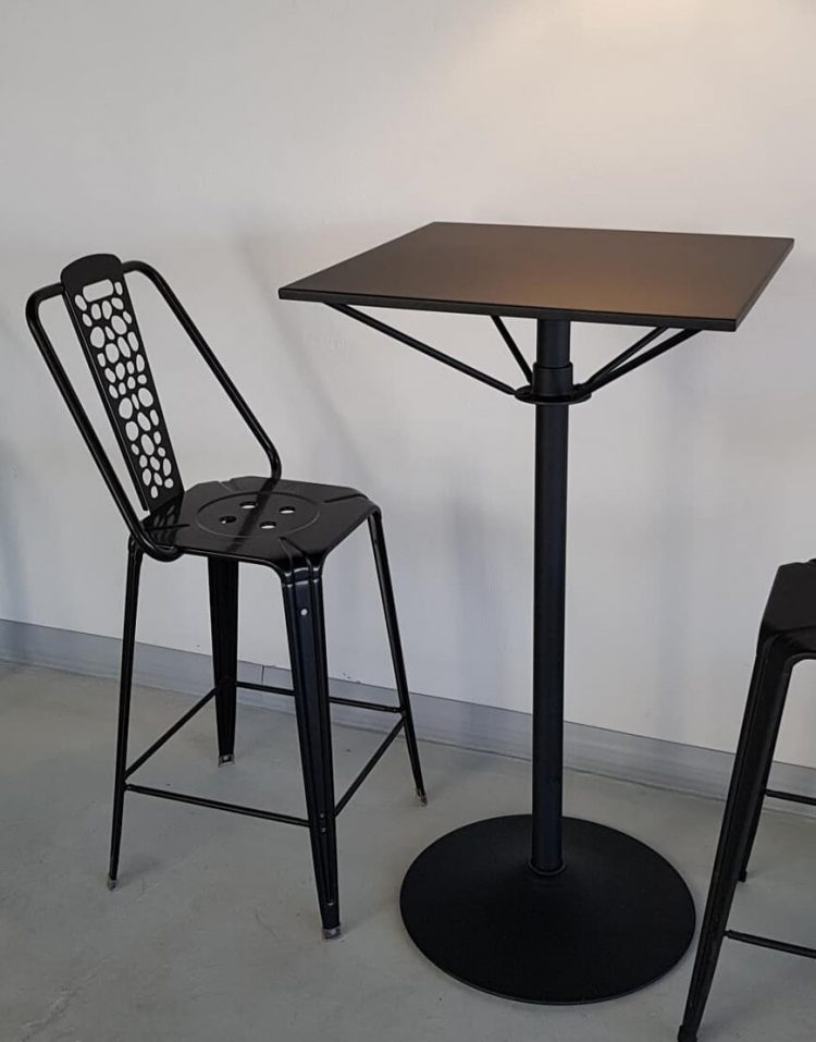 صندلی فلزی اپن نهالسان طرح سنگ مدل نوید