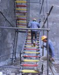 پله داربستی فلزی کارگاهی نهالسان