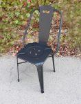 صندلی ناهارخوری ساده فلزی نهالسان مدل نوید