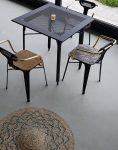 صندلی فلزی رستورانی دسته دار نهالسان مدل بیتا