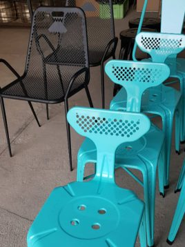 صندلی فلزی نهالسان مدل بیتا بدون دسته