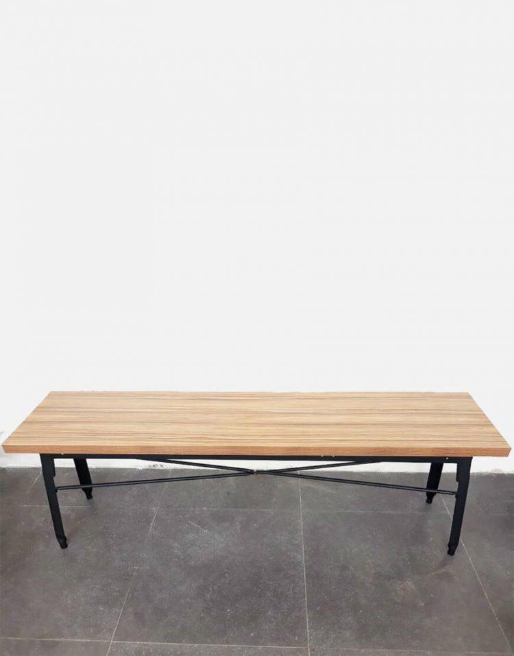 nahalsan triple metal bench 2 750x957 - نیمکت بدون پشتی فلزی سه نفره