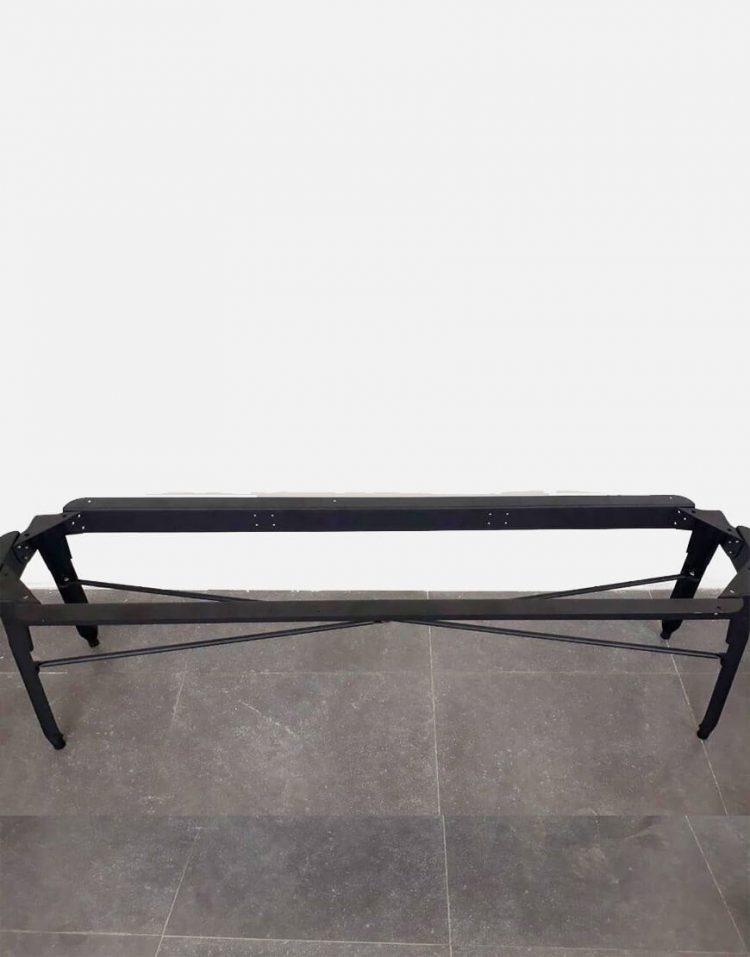 nahalsan triple metal bench 4 750x957 - نیمکت بدون پشتی فلزی سه نفره