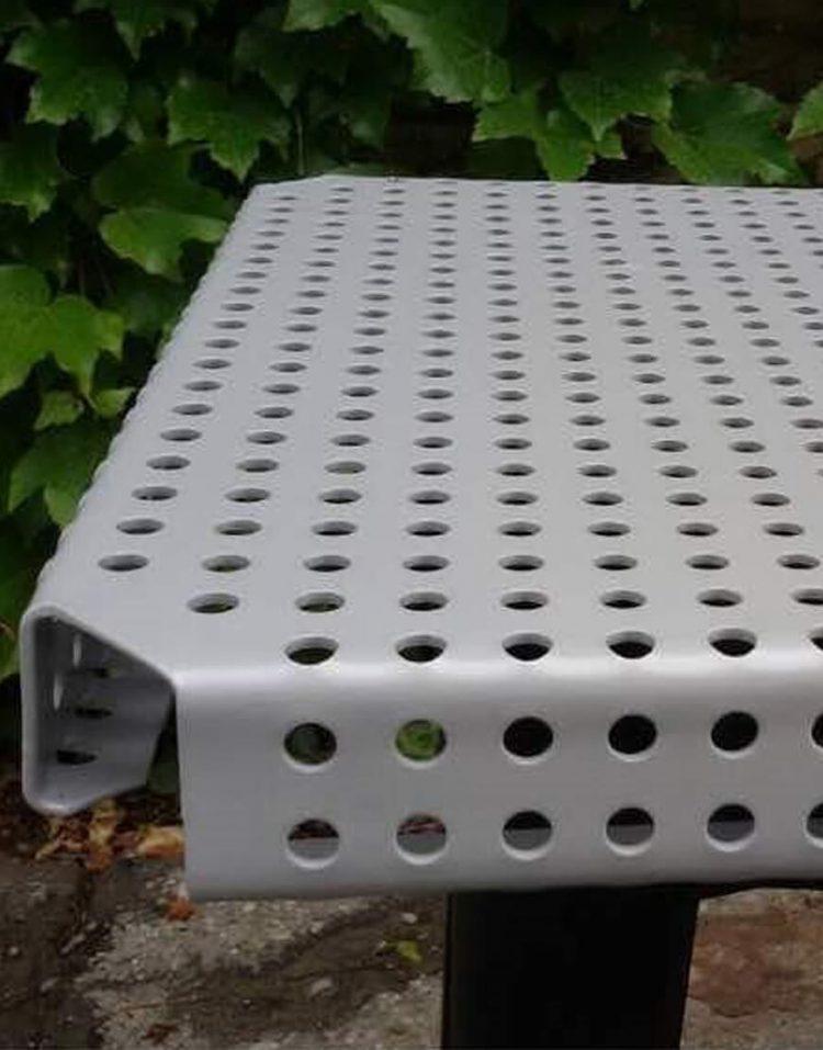 nahalsan triple metal bench 5 750x957 - نیمکت بدون پشتی فلزی سه نفره