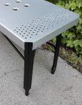 nahalsan triple metal bench 6 118x150 - نیمکت بدون پشتی فلزی سه نفره