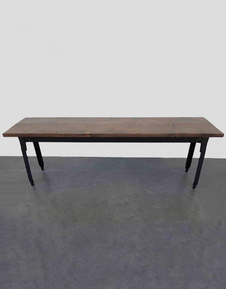 nahalsan triple metal bench 7 750x957 - نیمکت بدون پشتی فلزی سه نفره