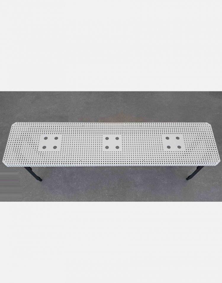nahalsan triple metal bench 8 750x957 - نیمکت بدون پشتی فلزی سه نفره