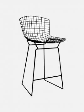 nazari tall bar stools Bertoia model4 268x358 - صندلی کانتر نظری مدل برتویا
