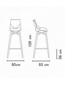 صندلی کانتر پایه بلند نظری مدل شل