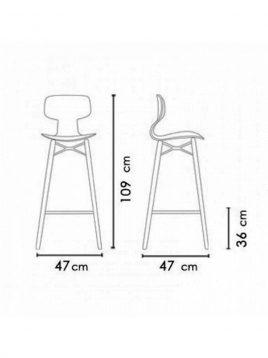 nazari tall bar stools Yugo model2 268x358 - صندلی کانتر نظری مدل یوگو پایه چوبی