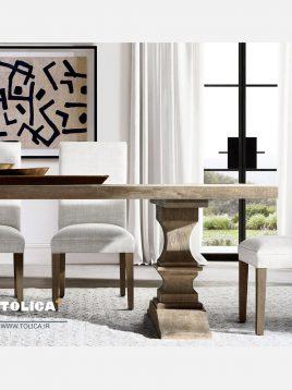 صندلی ناهار خوری پایه چوبی تولیکا مدل تویا