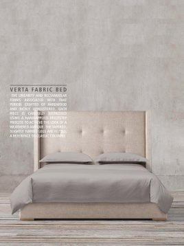 tolica classic bed with Beech wood base and Textile sack model verta 2 268x358 - تخت کلاسیک تولیکا چوب راش مدل ورتا