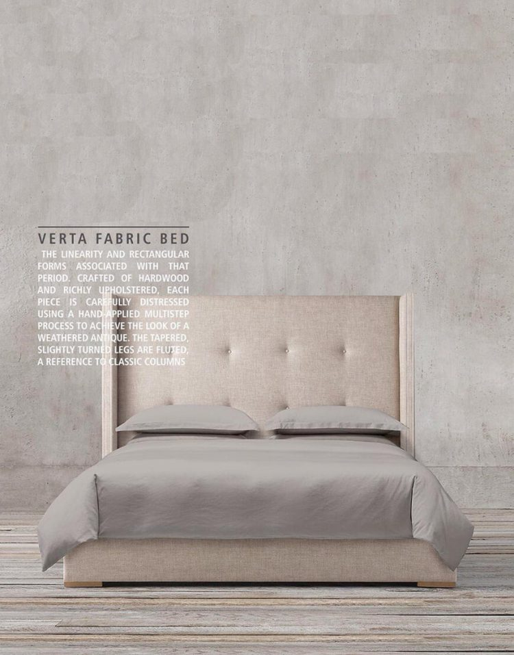 tolica classic bed with Beech wood base and Textile sack model verta 2 750x957 - تخت کلاسیک تولیکا چوب راش مدل ورتا