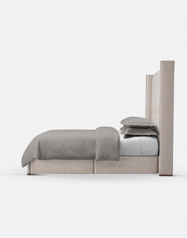 tolica classic bed with Beech wood base and Textile sack model verta 4 750x957 - تخت کلاسیک تولیکا چوب راش مدل ورتا