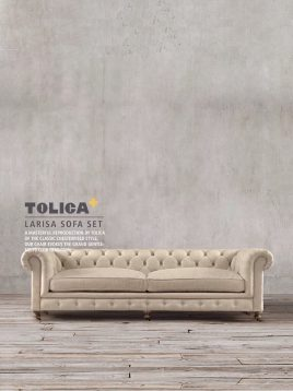 مبل راحتی کلاسیک دو نفره تولیکا مدل لاریسا