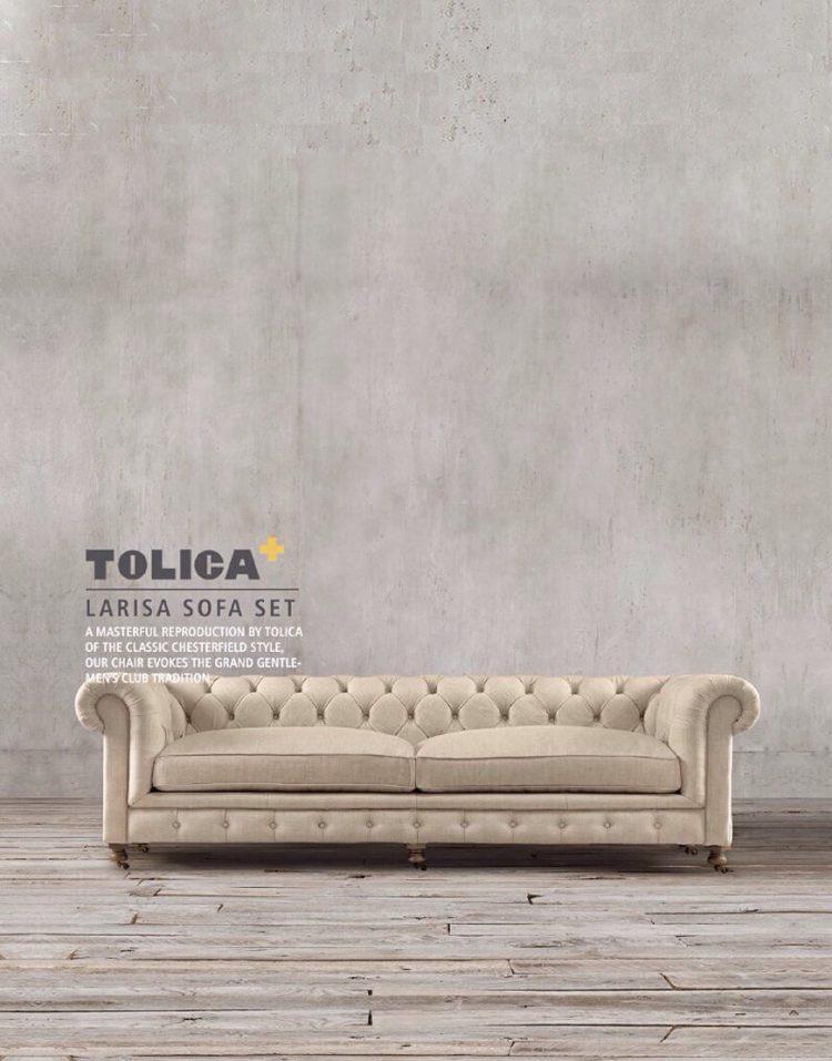 ست مبل راحتی کلاسیک هفت نفره تولیکا مدل لاریسا