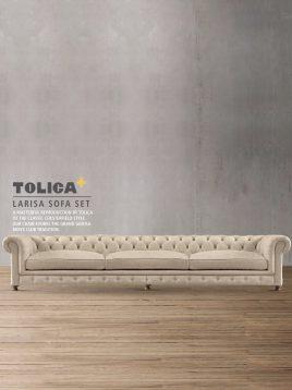 مبل راحتی کلاسیک سه نفره تولیکا مدل لاریسا