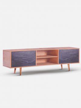 میز تلویزیون چوبی دورنگ تولیکا مدل کیا