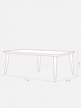 میز ناهارخوری چوبی تولیکا مدل کیا