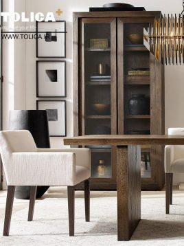 صندلی ناهارخوری پایه چوبی تولیکا مدل شای