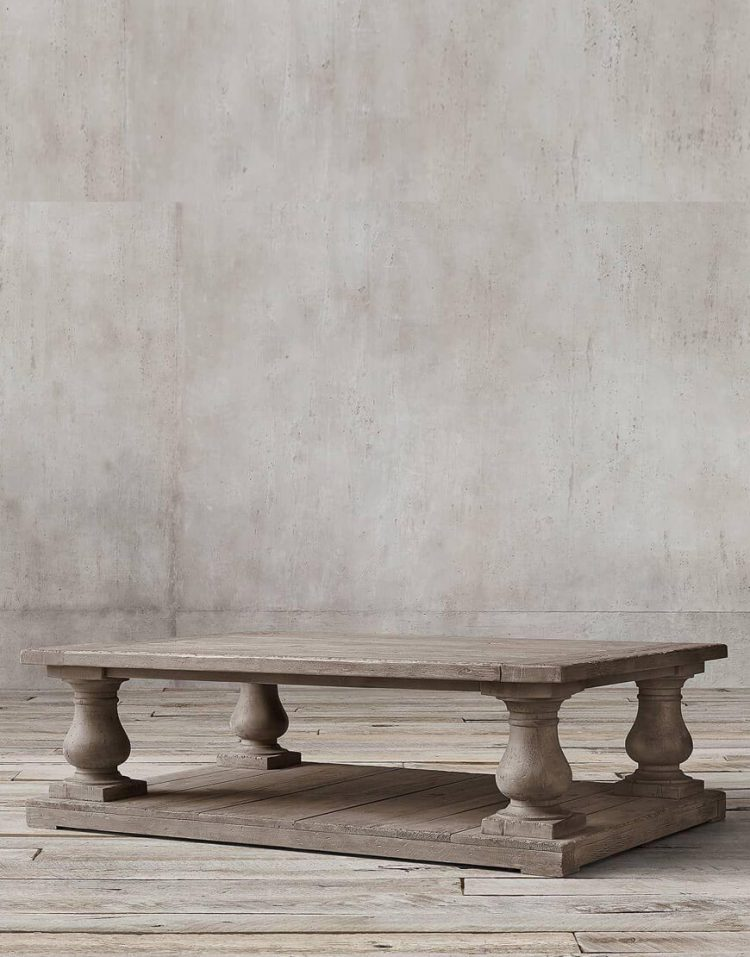 میز جلو مبلی چوبی تولیکا مدل النا