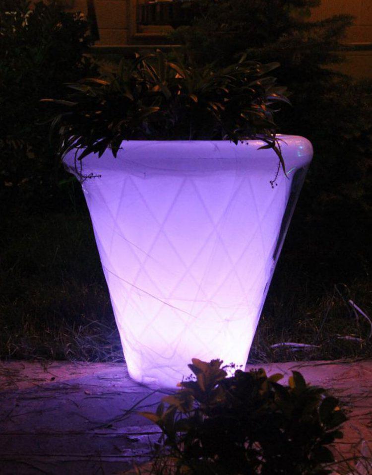 گلدان نورانی آذین پلی نور مدل لوزی
