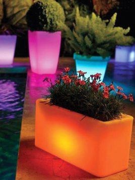 گلدان نورانی آذین پلی نور مدل مستطیل
