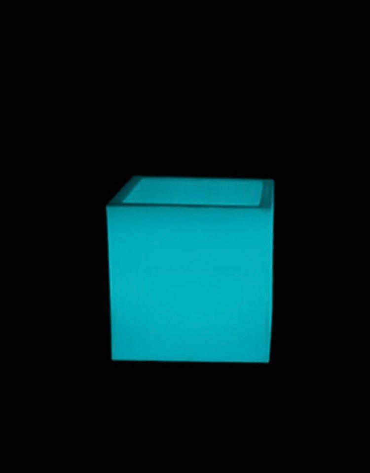 گلدان نورانی آذین پلی نور مدل مکعب