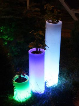 گلدان نورانی آذین پلی نور مدل استوانه سه تیکه