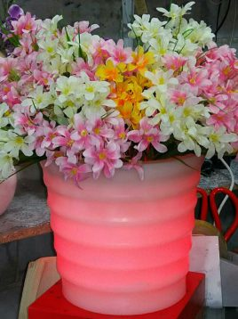 گلدان نورانی آذین پلی نور مدل سینوسی گرد