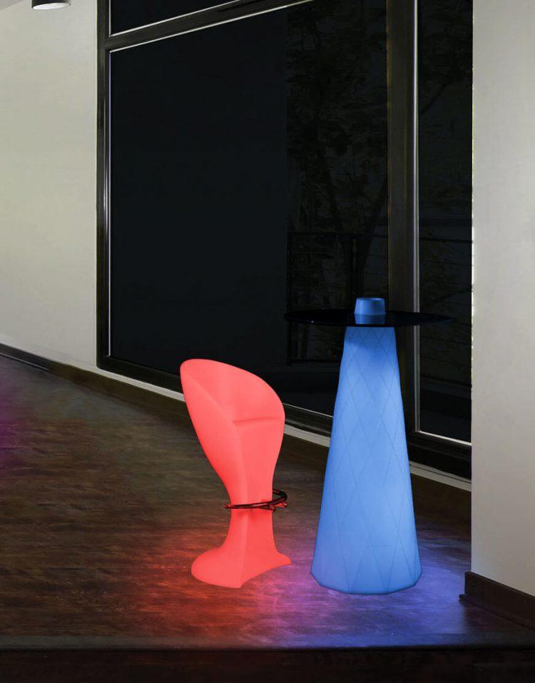 صندلی کانتر نورانی آذین پلی نور مدل استیل